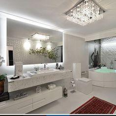 Que banheiro lindooo! Amei todos os detalhes!!!! Via @decorsalteado