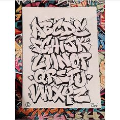 Alphabets - Graffiti street art Source by eshitikova Graffiti Alphabet Styles, Graffiti Lettering Alphabet, Graffiti Font, Graffiti Tagging, Graffiti Artwork, Graffiti Drawing, Graffiti Styles, Hand Lettering, Graffiti Names
