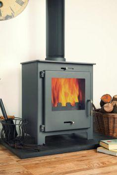 5kw NERO Contemporary Modern Woodburning Stove Stoves Multi Fuel   eBay £300 nr reading