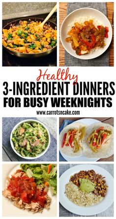 Healthy 3-Ingredient Dinners for Busy Weeknights