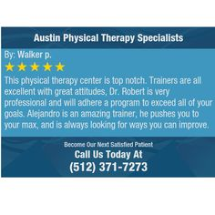This physical therapy center is top notch. Trainers are all excellent with great...