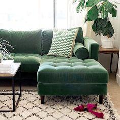 → Living room sofas on sale. My new green sofa - The House That Lars Built. My new green sofa - The House That Lars Built. Home Living Room, Room Design, Green Sofa, Sofa Design, Green Sofa Design, Home Decor, Couches Living Room, Green Velvet Sofa, Living Room Designs