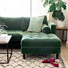 Wonderful Sven Grass Green Right Sectional Sofa   Sectionals   Article   Modern,  Mid Century