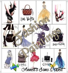 Sims 4 CC's - The Best: Fashion Paintings by Annett85