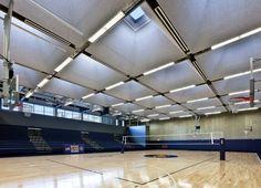 Exelon Gymnasium: A Big Concrete Building that Built on Abandoned Lots Precast Concrete, Concrete Building, Urban Fabric, Beautiful Buildings, Architecture, Abandoned, Big, Terrains, Arquitetura