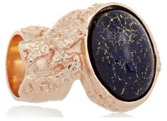 YSL artsy ring good pairing for a Baroque look