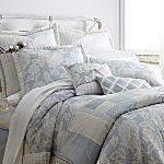blue & white Ashby Comforter Set w/ Bonus Quilt & More