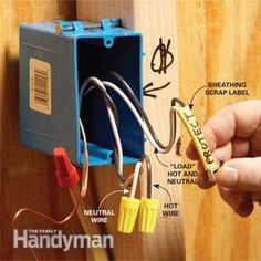 Tips for Easier Home Electrical Wiring Labeling Wires, very important .Labeling Wires, very important . Home Electrical Wiring, Electrical Projects, Electrical Outlets, Electrical Inspection, Residential Electrical, Electrical Symbols, Electrical Switches, Electric House, Home Fix