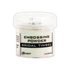 Bridal Tinsel Embossing Powder, Ranger, EPJ37446, sparkle embossing powder, glitter embossing powder, ranger embossing powder, #inkyhotmess #ranger