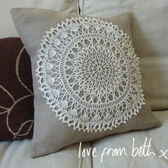 Doily cushion - would actually put my inherited doilies to use
