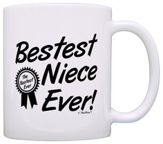 Birthday Gift for Niece Bestest Best Niece Ever Award Gift Coffee Mug Tea Cup White >>> Quickly view this special product, click the image : Coffee Mugs