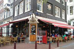 Café Marcella aan het Amstelveld en Prinsengracht, één van de mooiste plekjes van Amsterdam.