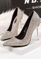 light-golden-point-toe-stiletto-sequin-fashion-chaussures-a-talons-hauts-mode-femme-chaussures/ - The world's most private search engine Fancy Shoes, Pretty Shoes, Beautiful Shoes, High Heels Boots, Shoe Boots, Shoes Heels, Bridal Shoes, Wedding Shoes, Stilettos