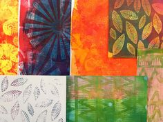 Gelli Arts® Printing with Flexible Texture Plates