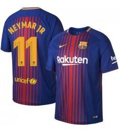 Billiga Barcelona Neymar Jr 11 Hemmatröja 17-18 Kortärmad