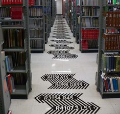 Library's signage and wayfinding. The Display face was inspired by the design of the book stacks wayfinding.