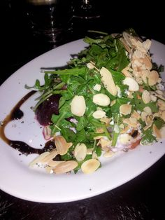 Beet and Burrata cheese salad from Trattoria Mercatto in the Eaton Centre in Toronto