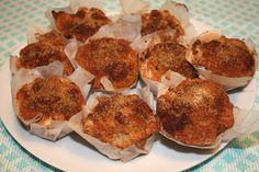 muffins med pære og krydderier