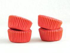 Pirotines de papel para mini cupcakes rojo (25 u.)