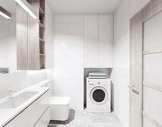 Aranżacje wnętrz - Łazienka: projekt 12 - Mała łazienka, styl minimalistyczny - PASS architekci. Przeglądaj, dodawaj i zapisuj najlepsze zdjęcia, pomysły i inspiracje designerskie. W bazie mamy już prawie milion fotografii!