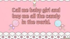 Image de candy, pink, and baby girl Daddy's Little Girl Quotes, Daddy Dom Little Girl, My Baby Girl, Daddys Girl, Ddlg Little, Little My, Daddy Aesthetic, Pink Aesthetic, Daddys Princess