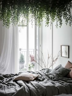 44 Incredible Apartment Bedroom Plants Ideas Get The Best Bedroom Ideas Decoration for Your Incredible Apartment Bedroom Plants IdeasIn case your am facilely Apartment Bedroom Pl Bedroom Plants, Room Decor Bedroom, Bedroom Ideas, Design Bedroom, Girls Bedroom, Master Bedroom, Interior Simple, Interior Design, Cortinas Boho