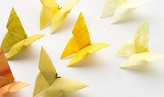 simple crafts making: How to Fold an Origami Butterfly