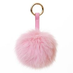 Pink pom pom/charm for a handbag or purse from Surell Accessories.