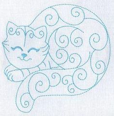 smiling cat - Would be cute for a tag, a card, scrapbook, etc.