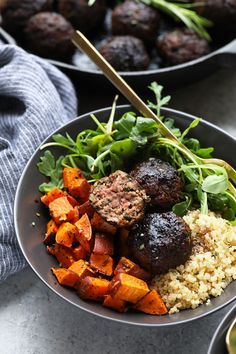 Whether you are looking for a holiday appetizer, meal-prep for the week, or a game-day treat. These Healthy RosemaryThymeBalsamic Meatballs are perfect for every occasion!