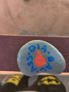 Diabetes awareness rock! Dia-bad-ass!! $10 + shipping and handling Painted Rocks For Sale, Hand Painted Rocks, Diabetes Awareness