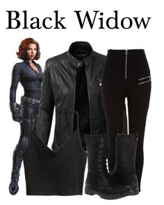 A fashion look from September 2017 featuring h&m shirts, high-waist trousers and black platform boots. Browse and shop related looks. Marvel Inspired Outfits, Movie Inspired Outfits, Disney Inspired Fashion, Themed Outfits, Diy Black Widow Costume, Black Widow Outfit, Cute Teen Outfits, Outfits For Teens, Cool Outfits
