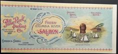 Columbia River Salmon Vintage Can Label Pillar Rock Packing Co. Pillar Rock, Wa #FreshColumbiaRiverSalmon