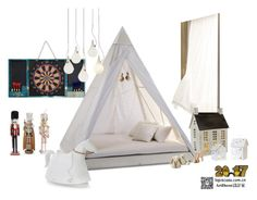 """""""Untitled #110"""" by annie-qiu on Polyvore featuring interior, interiors, interior design, home, home decor, interior decorating, Jonathan Adler, Anne-Claire Petit, Kurt Adler and Laura Ashley"""