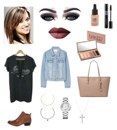 """""""Untitled #38"""" by skylasimshauser on Polyvore featuring MANGO, Lucky Brand, Too Faced Cosmetics, Topshop, Christian Dior, Urban Decay, Michael Kors, Ettika, Juicy Couture and David Yurman"""