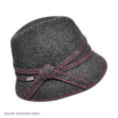 Betmar Mia Fedora Hat (Heather Grey)