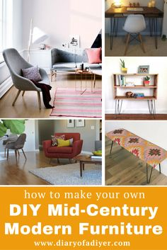 diy mid century modern furniture is totally a thing whether you build your own