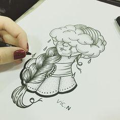 Vic Nascimento (@vicnascimentotattoo) on Instagram: Criação para minha cliente professora! Espero que gostem do desenho, já já estará na pele! Orçamentos feitos por direct e e-mail! #rioinktattoo #tattoo #tattoos #tatuagem #tatuagens #design #scketch #pontilhismo #pontilhismotattoo #tattoo2me
