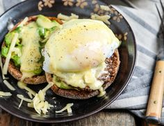 Sausage Avocado Benedict with White Cheddar Hollandaise is an indulgent, savory twist on the classic recipe - perfect for a hearty brinner.