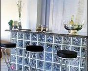 balcão tijolo de vidro