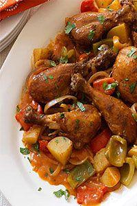 Brazilian chicken curry recipe : http://www.pattayadailynews.com/en/2010/05/22/scrummy-brazilian-chicken-curry-recipe/