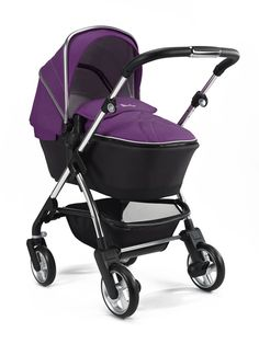 Wayfarer is a compact and lightweight pram and pushchair system built for urban lifestyles. Shown here in rich and fruity Damson.