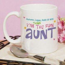 Personalized Fun Aunt Coffee Mug