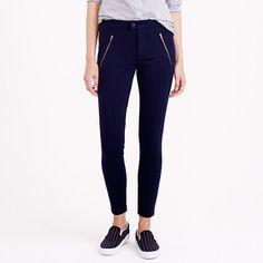 "When we're stumped on what to wear, we start with this pant. Like a legging but more structured, it's made from a stretchy holds-you-in fabric and looks good on <i>everyone</i>. <ul><li>Slim fit.</li><li>29"" inseam.</li><li>Viscose/nylon with a hint of stretch.</li><li>Welt pockets with exposed zip.</li><li>Dry clean.</li><li>Import.</li></ul>"