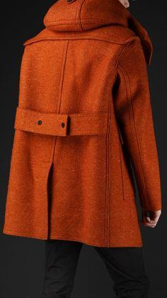 Burberry Prorsum mens sculptural felted wool duffle coat 2