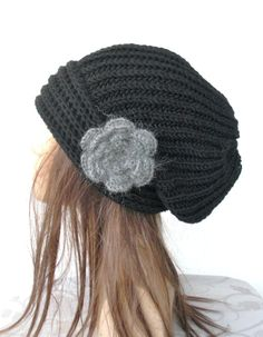 Hand Knit  Beanie Hat Womens hat  chunky knit Slouchy  by Ebruk, $35.00