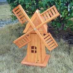 Rotating Wooden Wind Mill