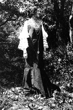 "Emilie Flöge in ""Concert Dress"" designed by Gustav Klimt, 1906"