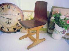 Alter ASS Kinder Schreibtisch Büro Stuhl Industrie Werkstatt Hocker Shabby Chic