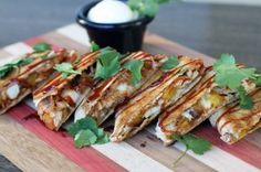 BBQ Chicken, Brie and Plantain Quesadillas   My Life as a Mrs